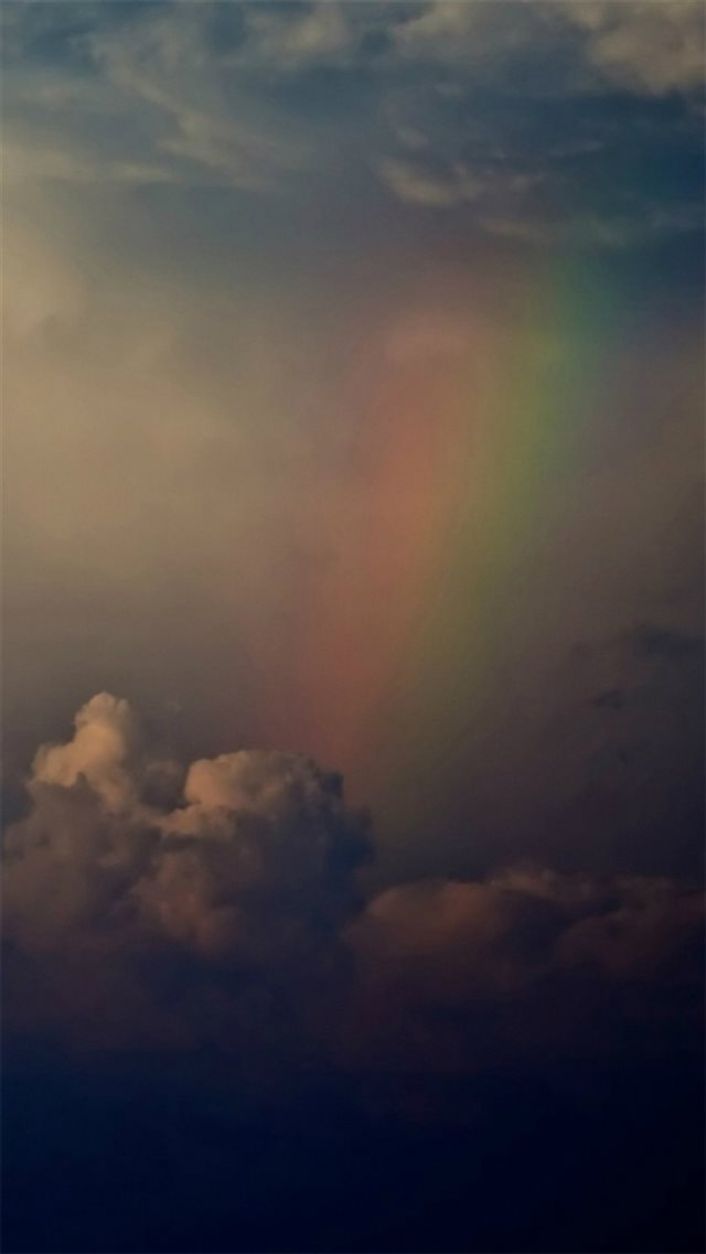 Rainbow Across Cloudy Storm After Rain iPhone 8 wallpaper