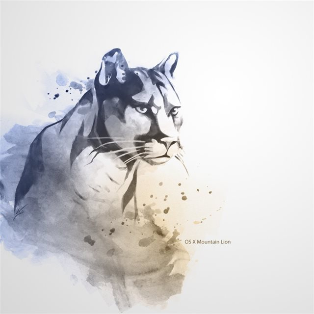 Mountain Lion Art Ipad Wallpapers Free Download