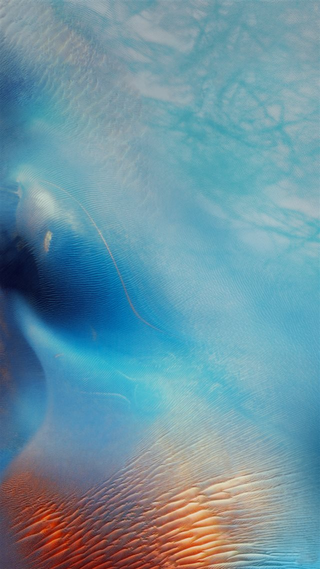 Abstract Blue Water Wave Pattern Art iOS9 Wallpaper iPhone 8 wallpaper