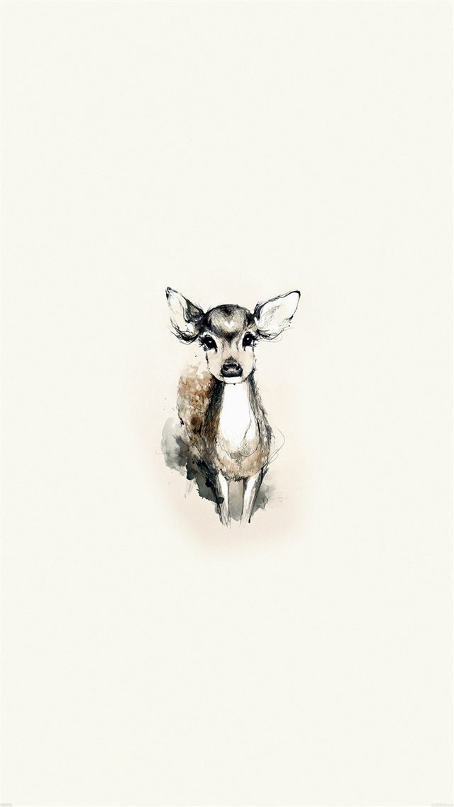 Tiny Deer Illustration iPhone 8 wallpaper