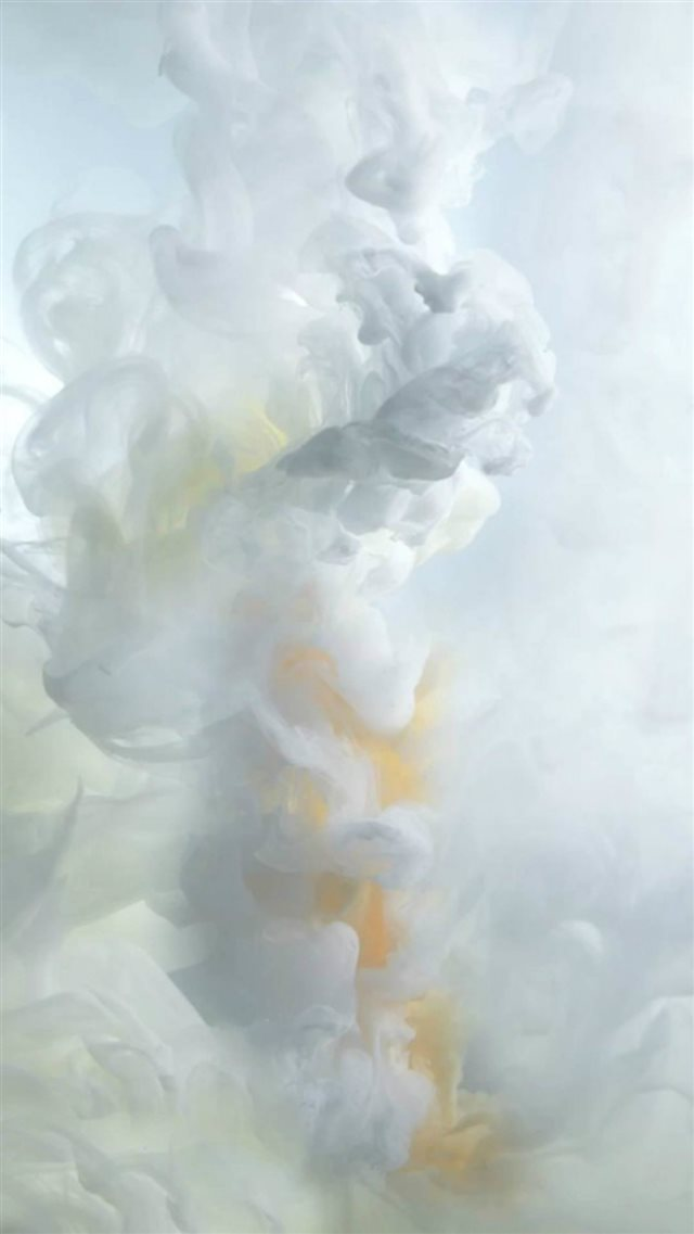 White Ink Smoke iOS9 Wallpaper Art iPhone 8 wallpaper