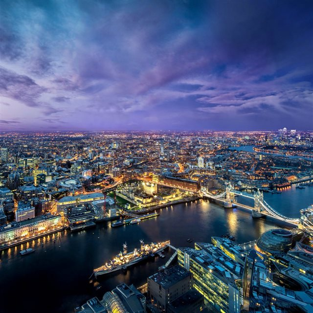 Nature London Bridge Night Cityscape iPad wallpaper