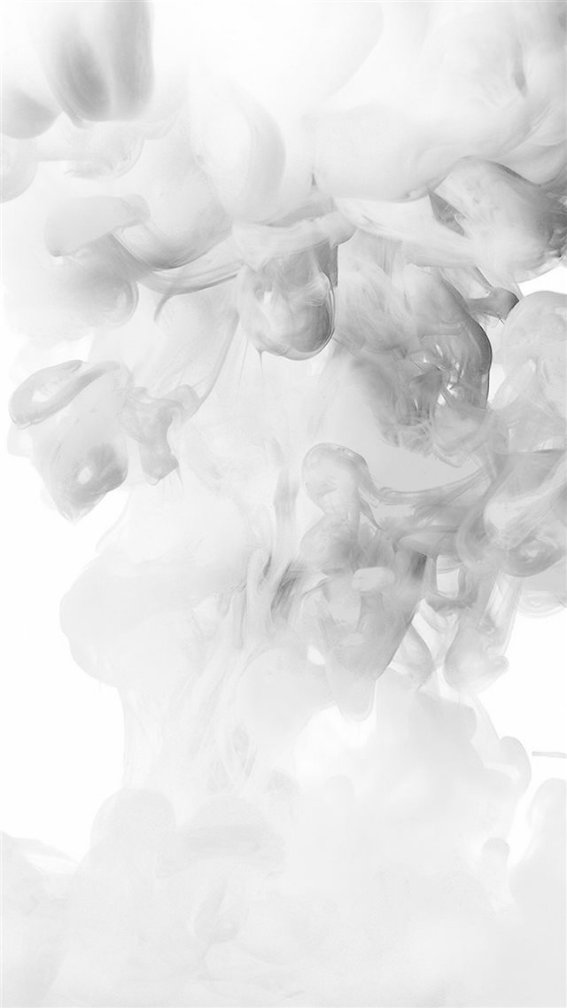 Smoke White Abstract Fog Art Illust iPhone 8 wallpaper