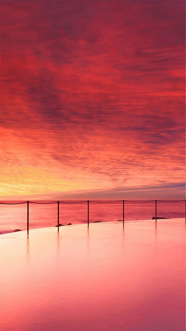 Wonderful Sunset Beautiful Beach Skyscape iPhone 8 wallpaper