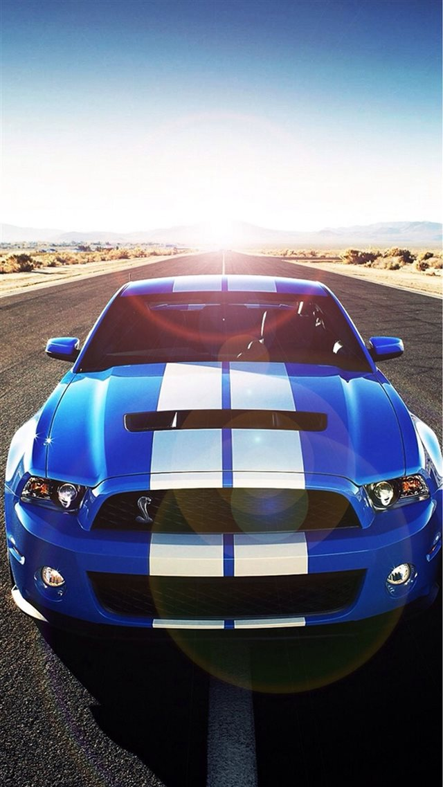 Sunshine Road Blue Cool Car iPhone 8 wallpaper