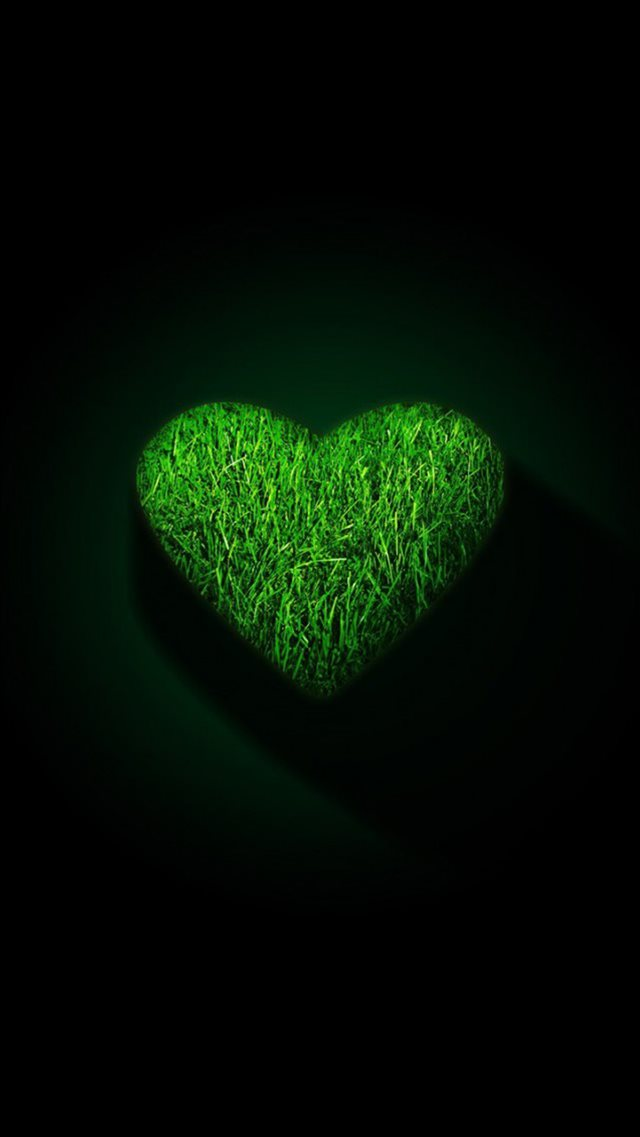 Romantic Grass Love Shaped Shadow Artwork iPhone 8 wallpaper