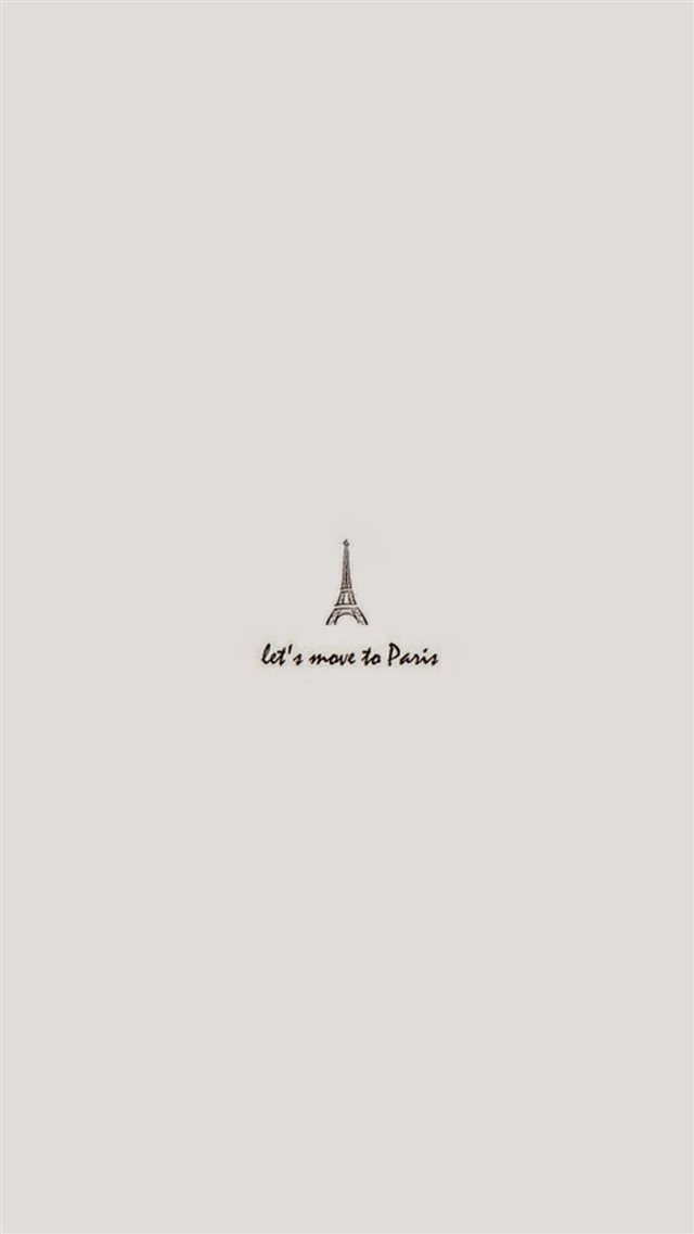 Move To Paris Minimal Art iPhone 8 wallpaper