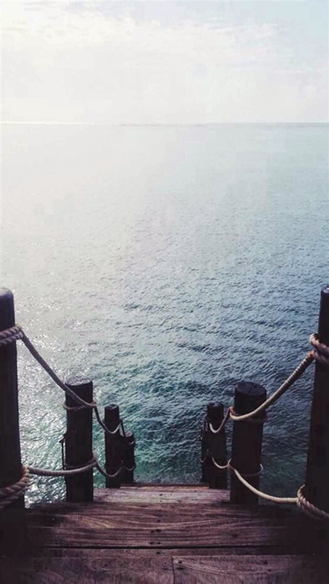 Pier Dock Ocean View iPhone 8 wallpaper