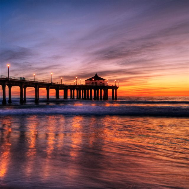 Manhattan Beach Pier iPad wallpaper
