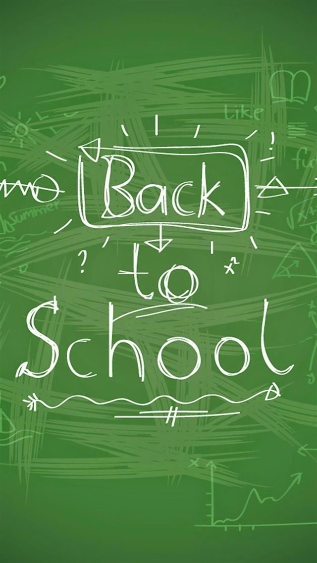 Back To School Handwriting iPhone 8 wallpaper