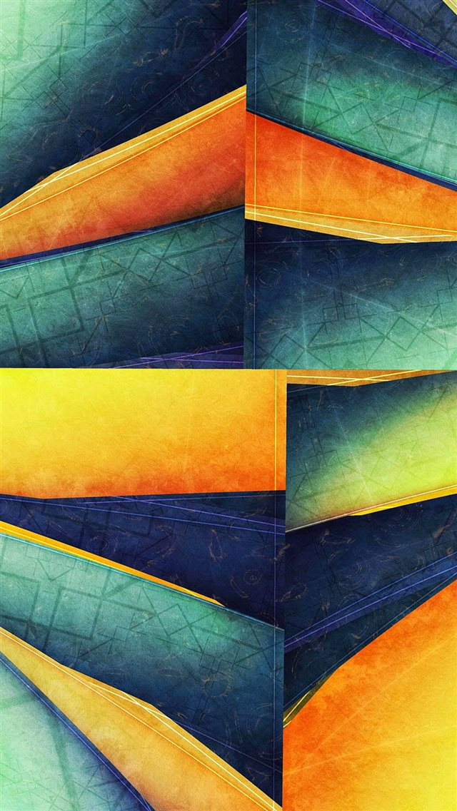 Colorful Cube Lines Corner iPhone 8 wallpaper