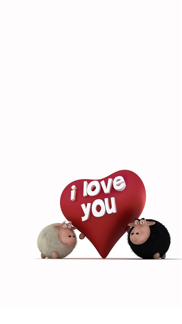 I Love You Funny Sheep iPhone 8 wallpaper