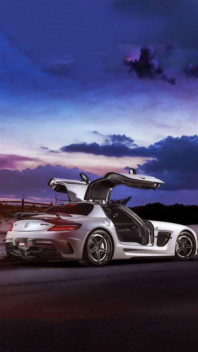 Mercedes SLS AMG Coupe Black Series iPhone 8 wallpaper