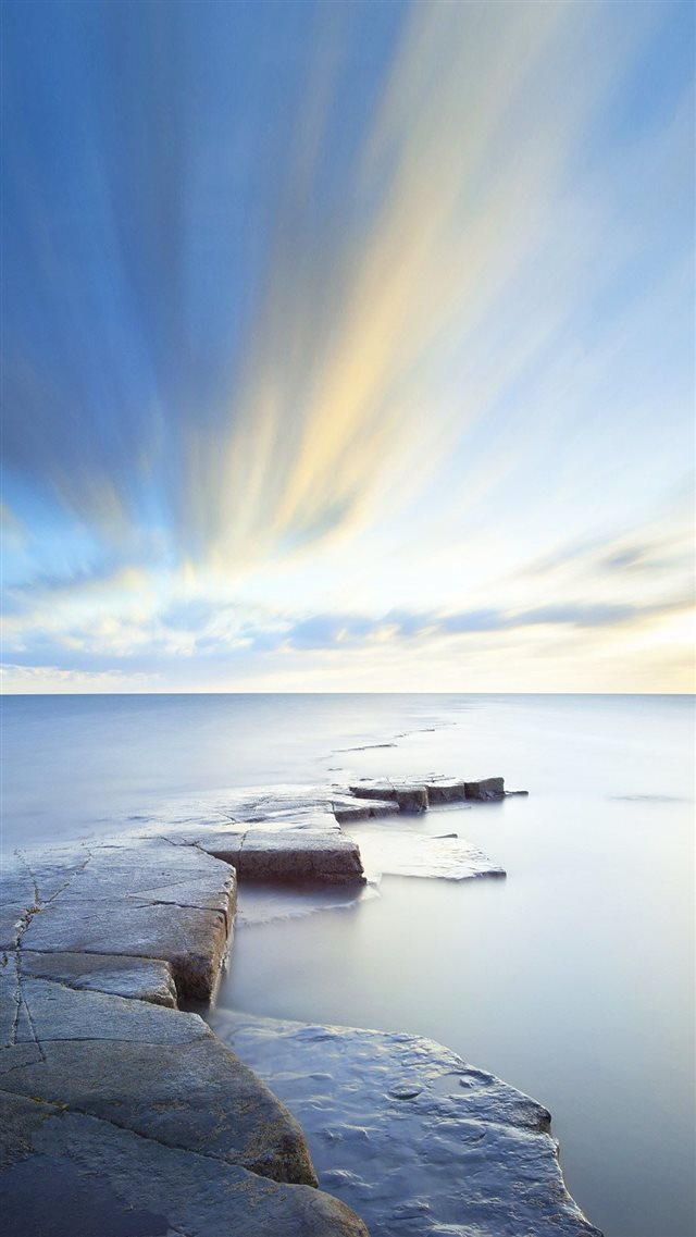 Rock Road Wonderful Blue Sky  iPhone 8 wallpaper