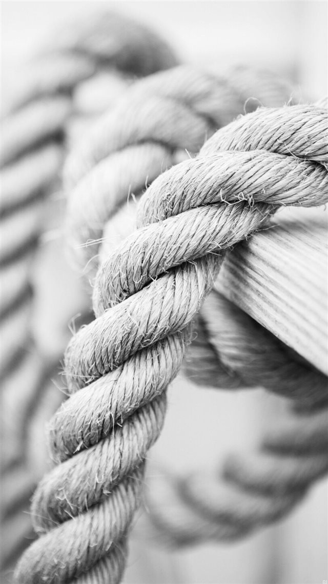 White Marine Knot Rope iPhone 8 wallpaper