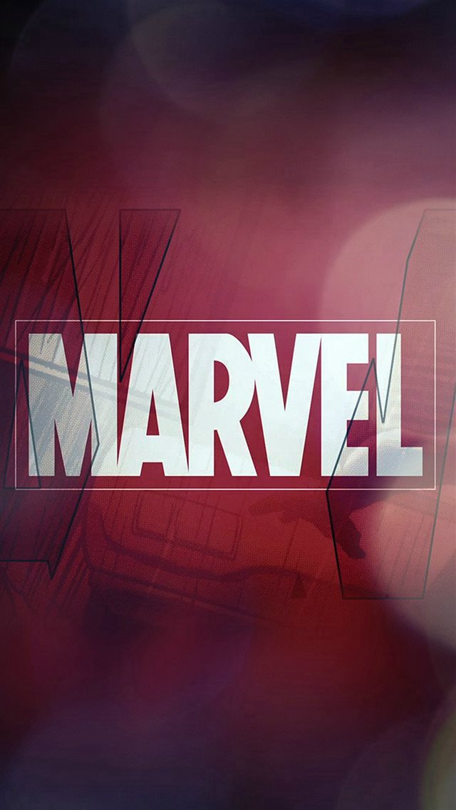 Marvel Logo Film Art Illust Minimal Bokeh iPhone 8 wallpaper