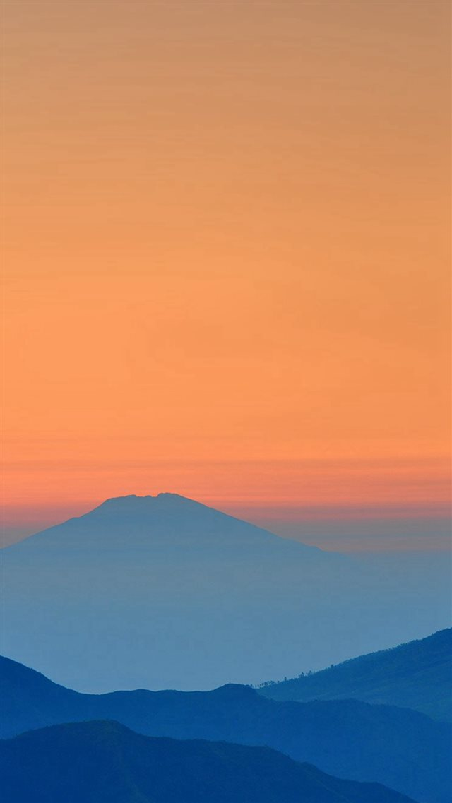 Landscape Sunrise Mountain Nature Red Blue iPhone 8 wallpaper