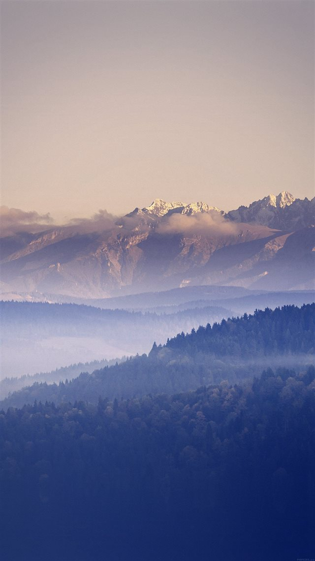 Mountain Peace Blue Sky Nature iPhone 8 wallpaper