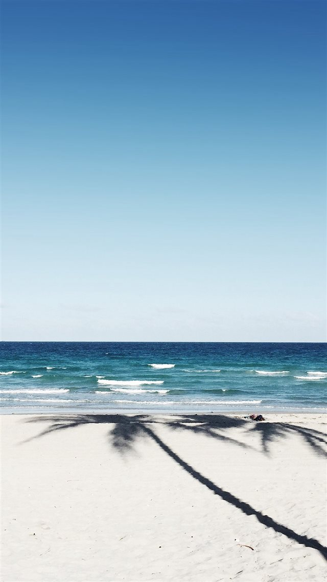 Beach Blue Nature Sea Holiday Water Sky iPhone 8 wallpaper