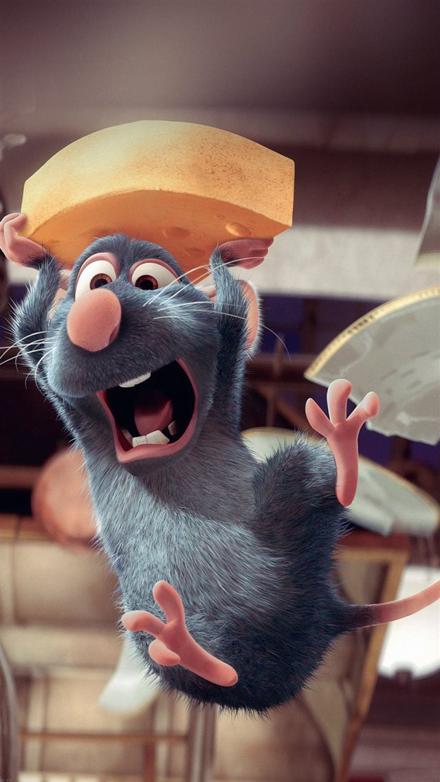 Ratatouille Disney Pixar Illust Art iPhone 8 wallpaper