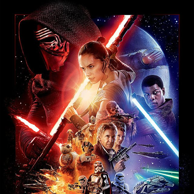 Starwars The Force Awakens Film Poster Art iPad wallpaper