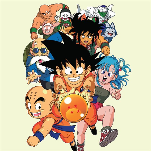 Dragonball Art Anime Japan iPad wallpaper