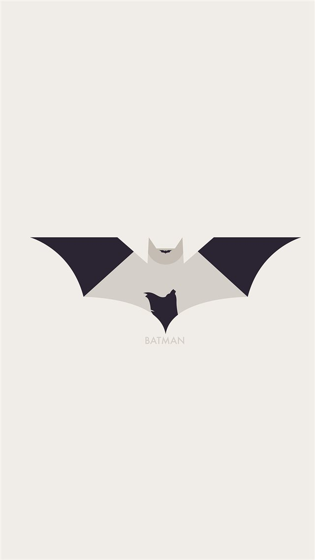 Art Batman Minimal Logo Illust iPhone 8 wallpaper