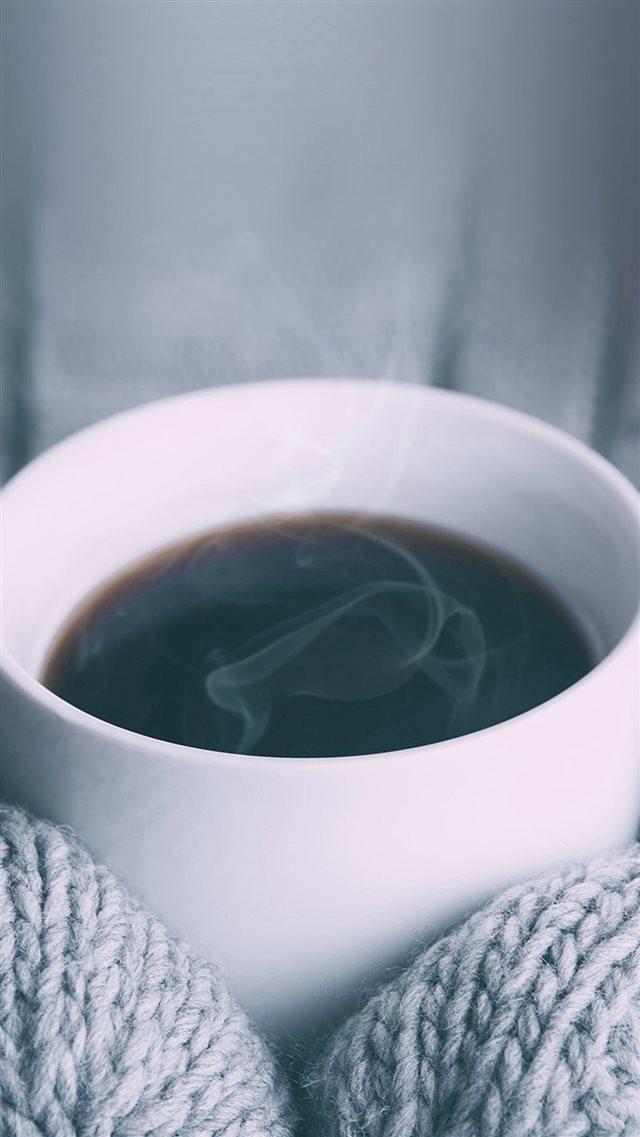 Hot Coffee City Life Winter iPhone 8 wallpaper