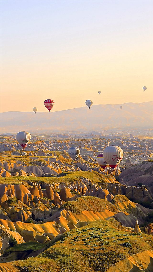 Hot Air Balloon Travel Mountain Iphone 8 Wallpapers Free