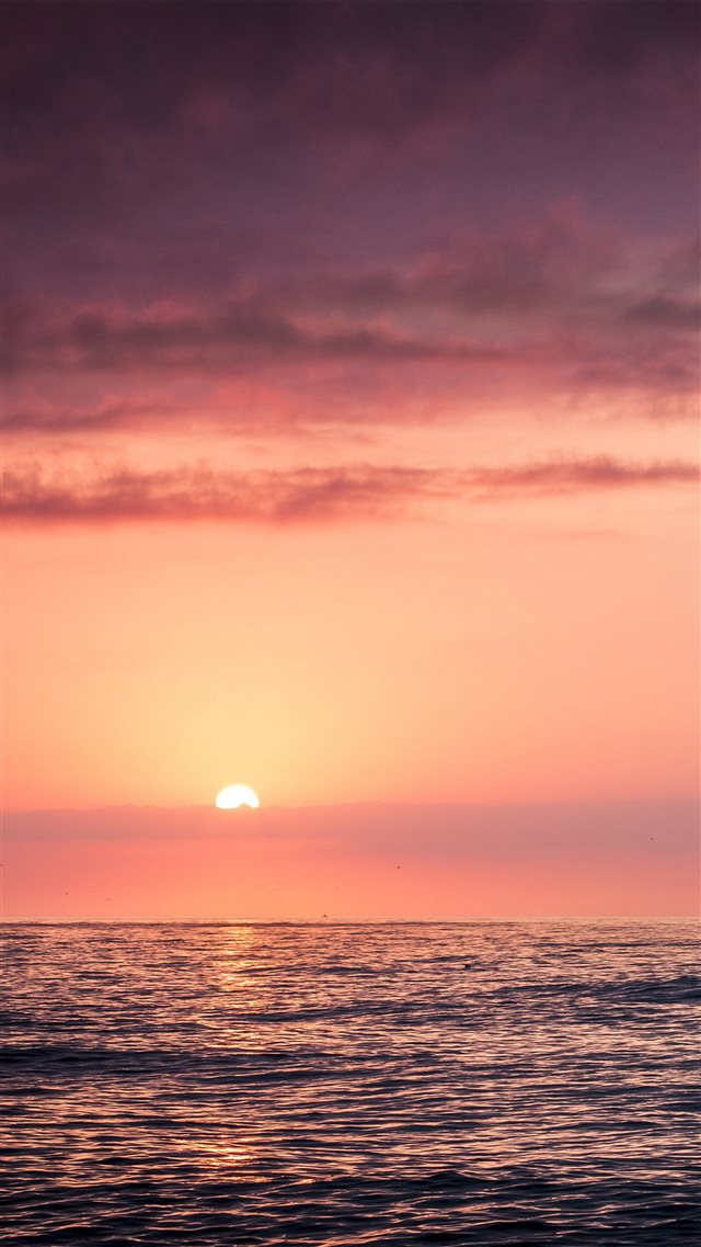 Sunset Sea Beach Sky Red iPhone 8 wallpaper