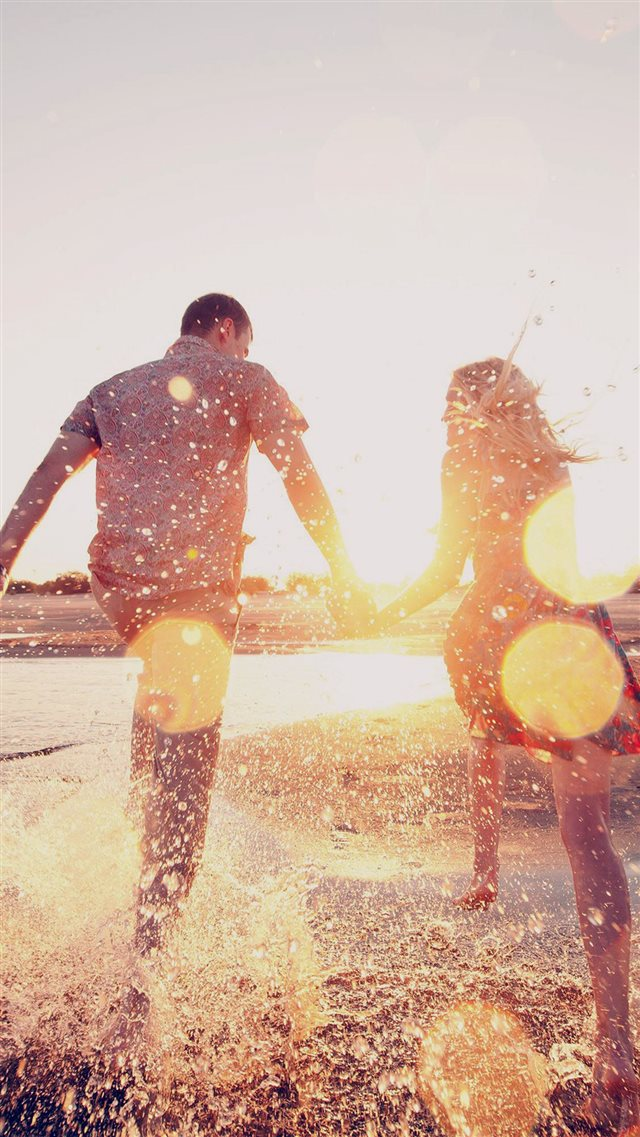 Couple Love Beach Happy Marry Me Nature Dark iPhone 8 wallpaper