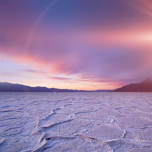 Dead Sea Snow Sunset Mountain Nature Flare iPad wallpaper