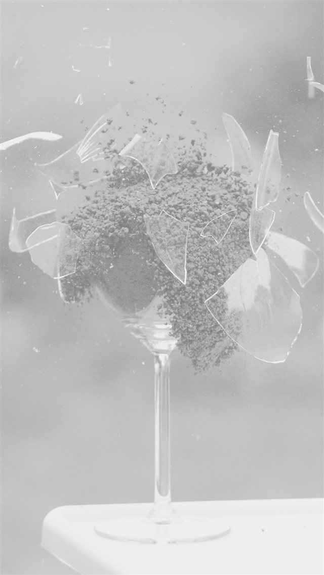 Glass Breaking Nature Art White iPhone 8 wallpaper