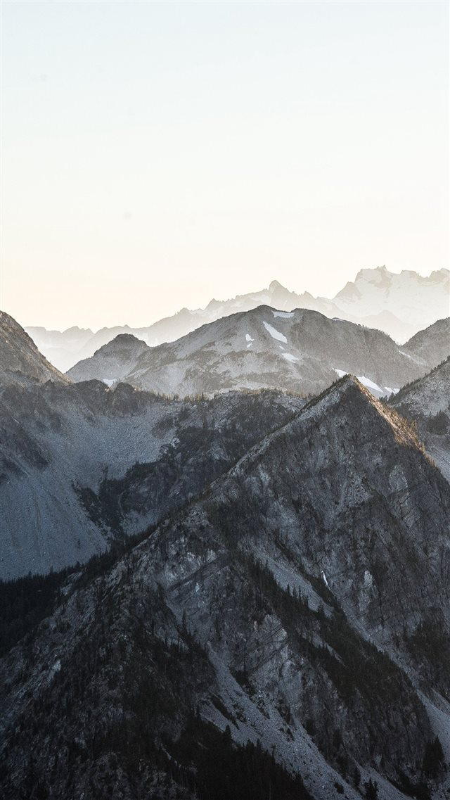 Mountain Layer View Nature Top iPhone 8 wallpaper