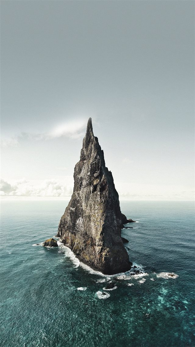 Vast Ocean Rock Landscape iPhone 8 wallpaper