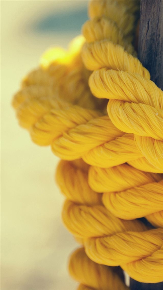 Yellow Rope Close Up iPhone 8 wallpaper