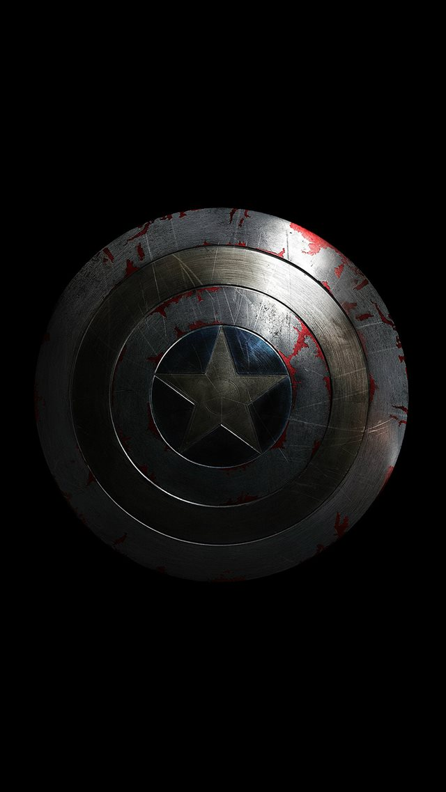 Captain America Avengers Hero Sheild Small Dark iPhone 8 wallpaper