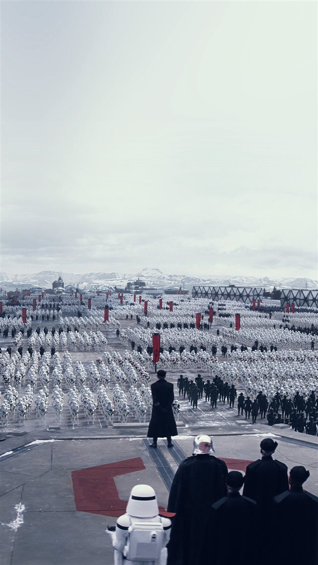 Force Awakens Starwars First Order Art Film iPhone 8 wallpaper