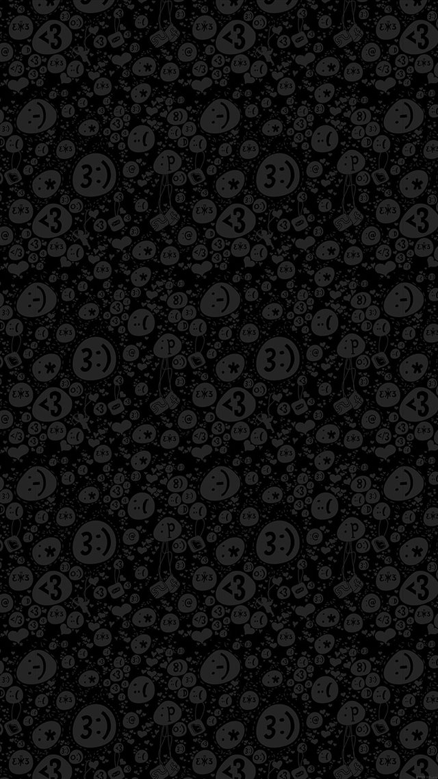 Emoticon Charms Pattern iPhone 8 wallpaper