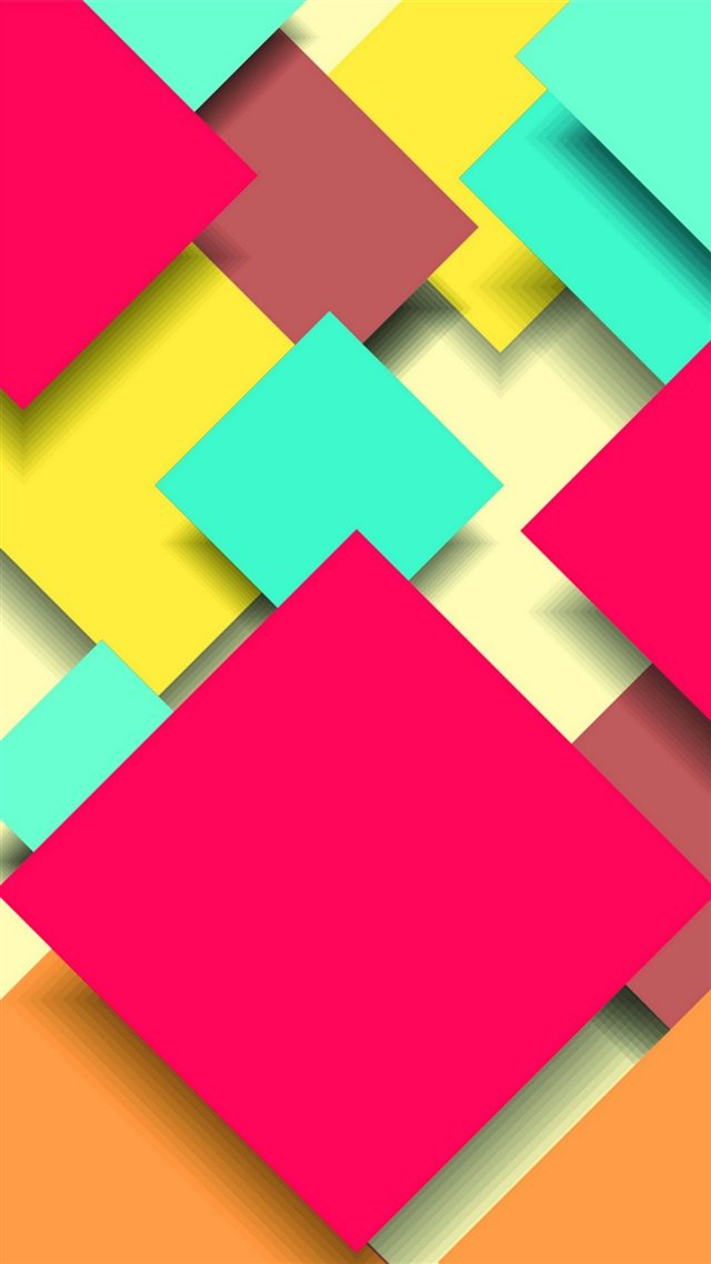 Abstract Colorful Square Overlap iPhone 8 wallpaper