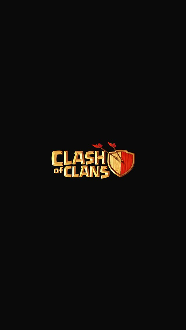 Clash Of Clans Logo Art Dark Game iPhone 8 wallpaper