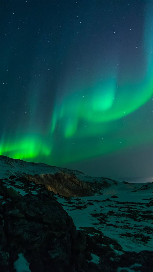 Aurora Nature Night Sky iPhone 8 wallpaper