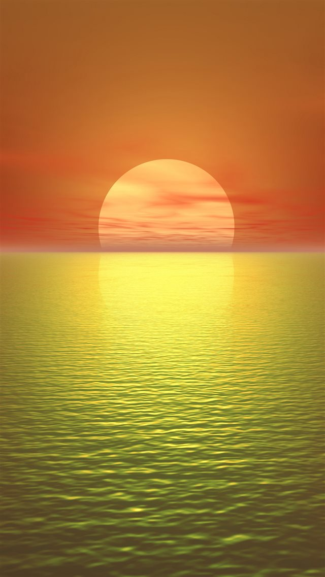 The most tranquil sunset iPhone 8 wallpaper