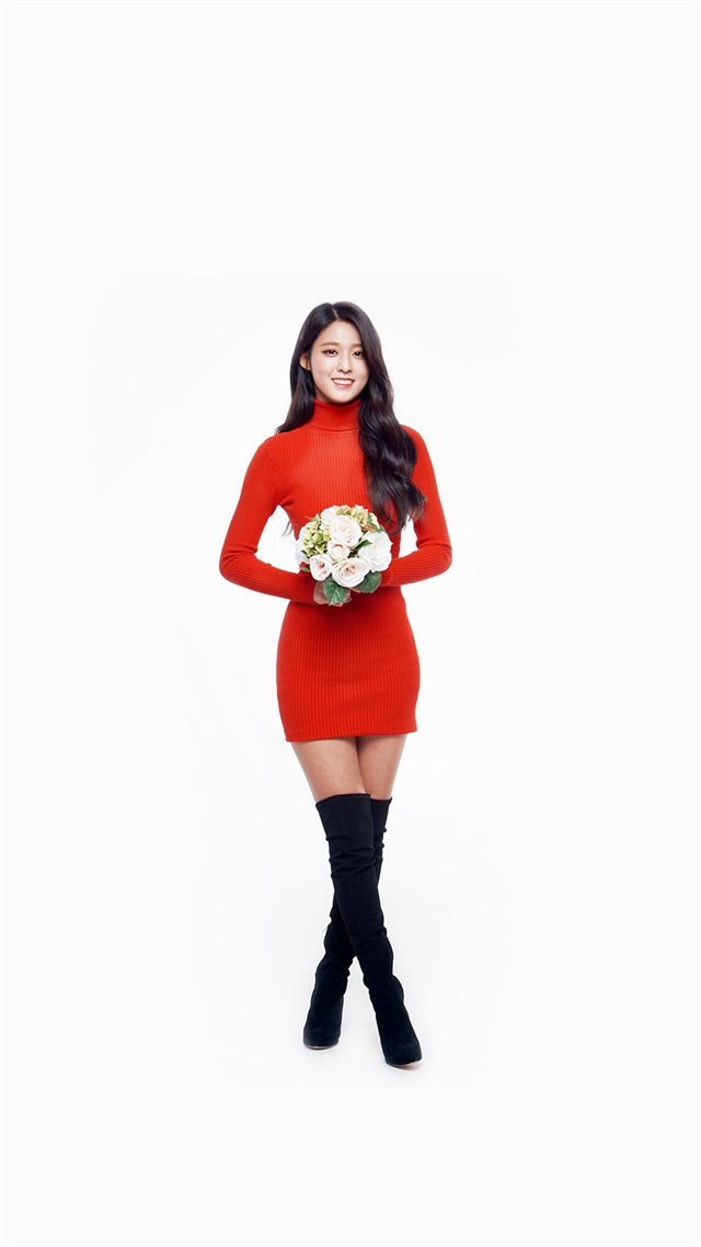 Seolhyun Aoa Red Christmas Cute Music White iPhone 8 Free Download