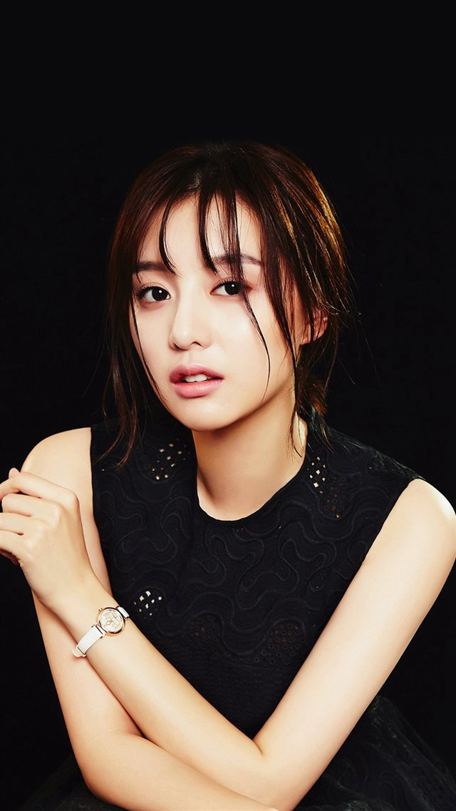 Kim Jiwon Dark Actress Beauty iPhone 8 wallpaper