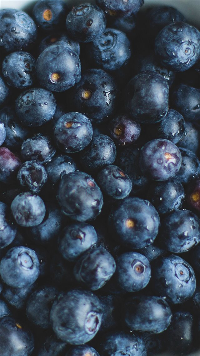 Blue Berry Healthy Fruit Eat Food Nature iPhone 8 wallpaper