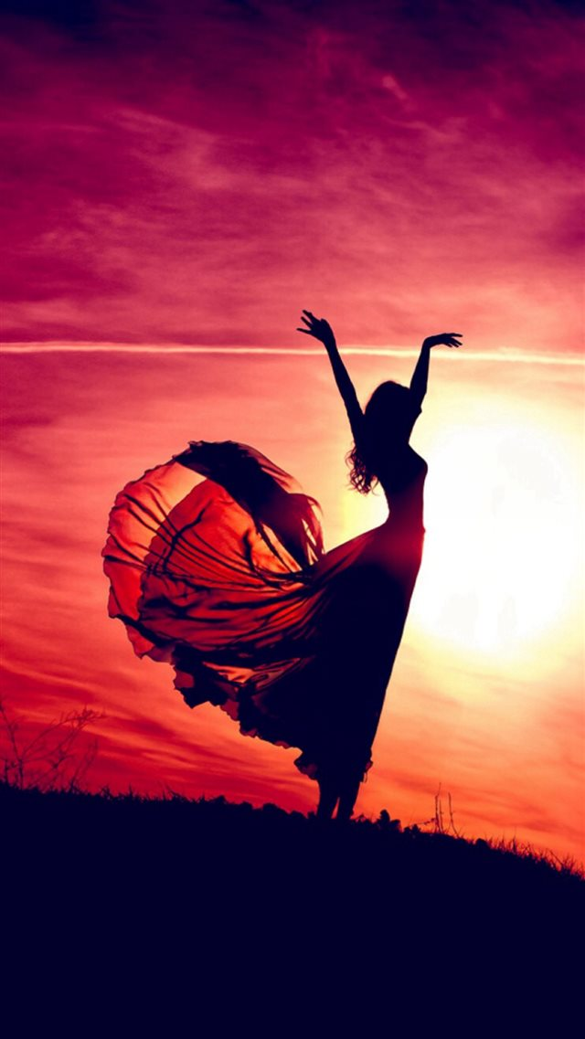 Aesthetic Dancing Sunshine Beauty Girl iPhone 8 wallpaper