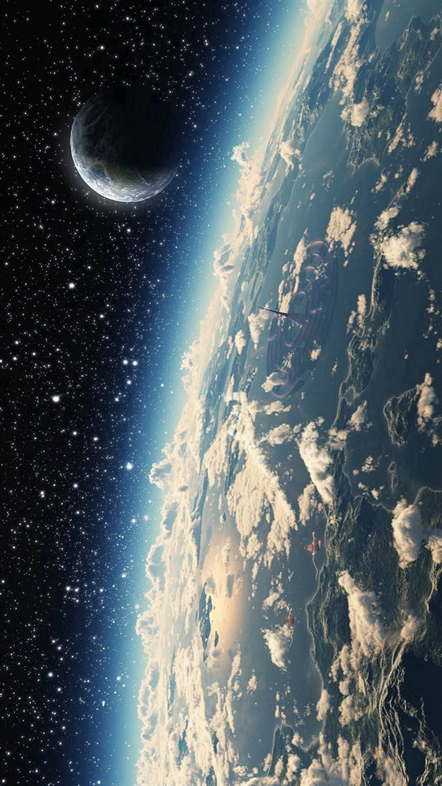 Space Cosmos Planet Star iPhone 8 wallpaper