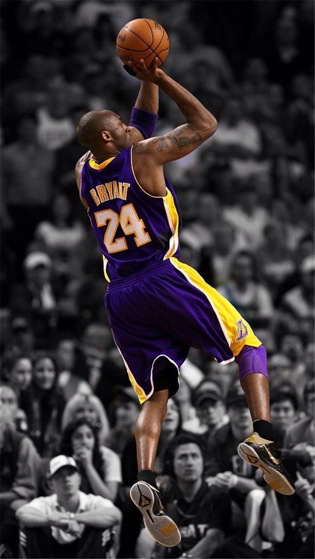 Nba Super Star Brant Kobe Show Iphone 8 Wallpapers Free Download