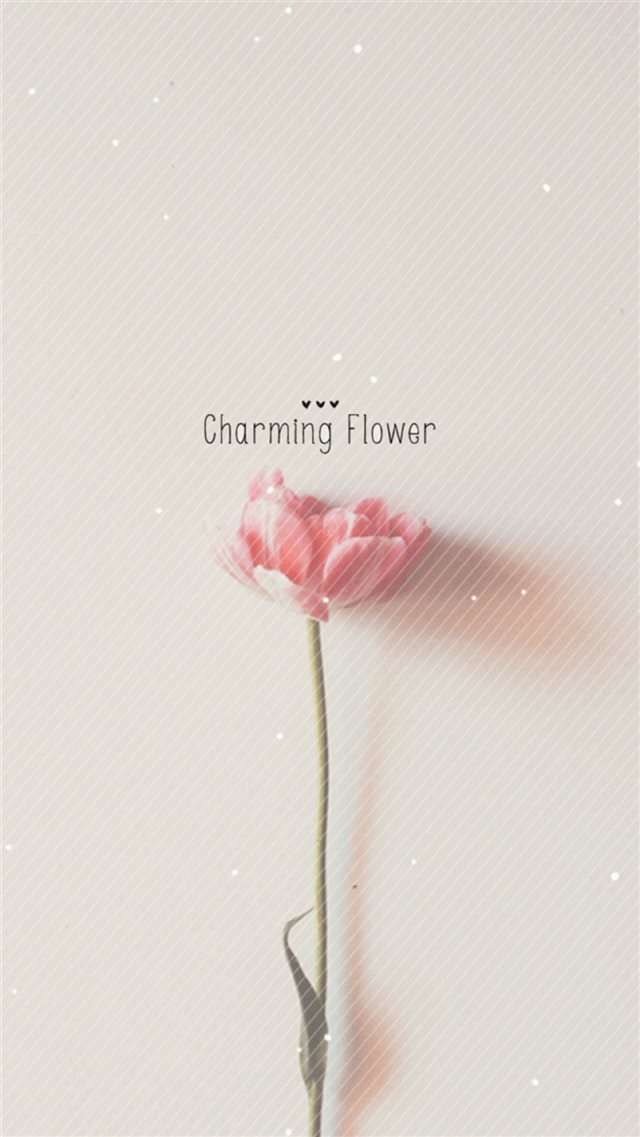 Pure Charming Flower Simple Pattern iPhone 8 wallpaper